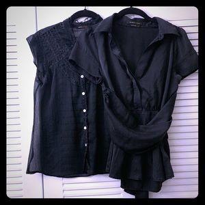 2 BCBGMAXAZRIA blouses. Size S ( both)
